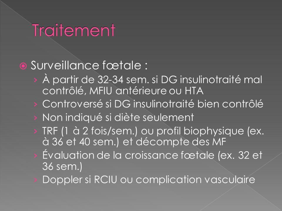 Traitement Surveillance fœtale :