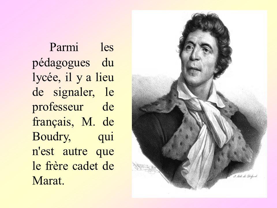 Parmi les pédagogues du lycée, il у a lieu de signaler, le professeur de français, M.