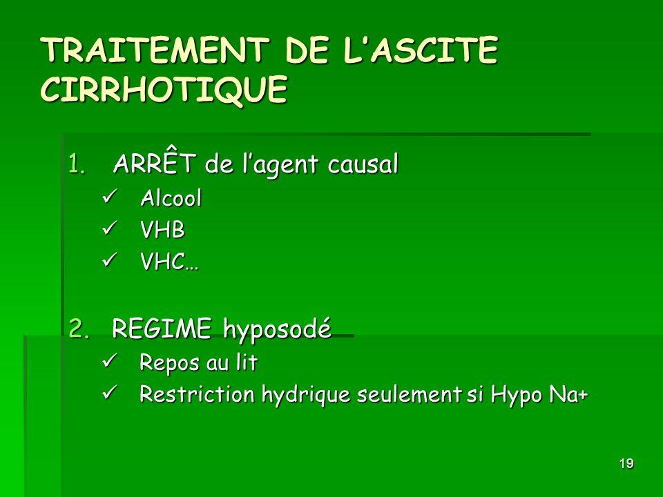TRAITEMENT DE L'ASCITE CIRRHOTIQUE