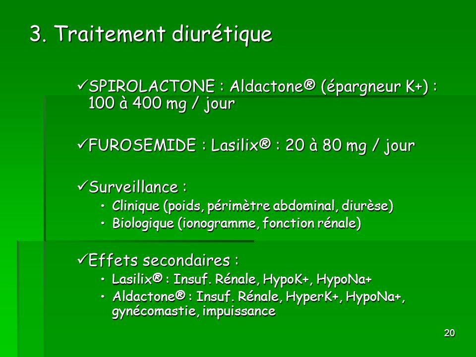 3. Traitement diurétique