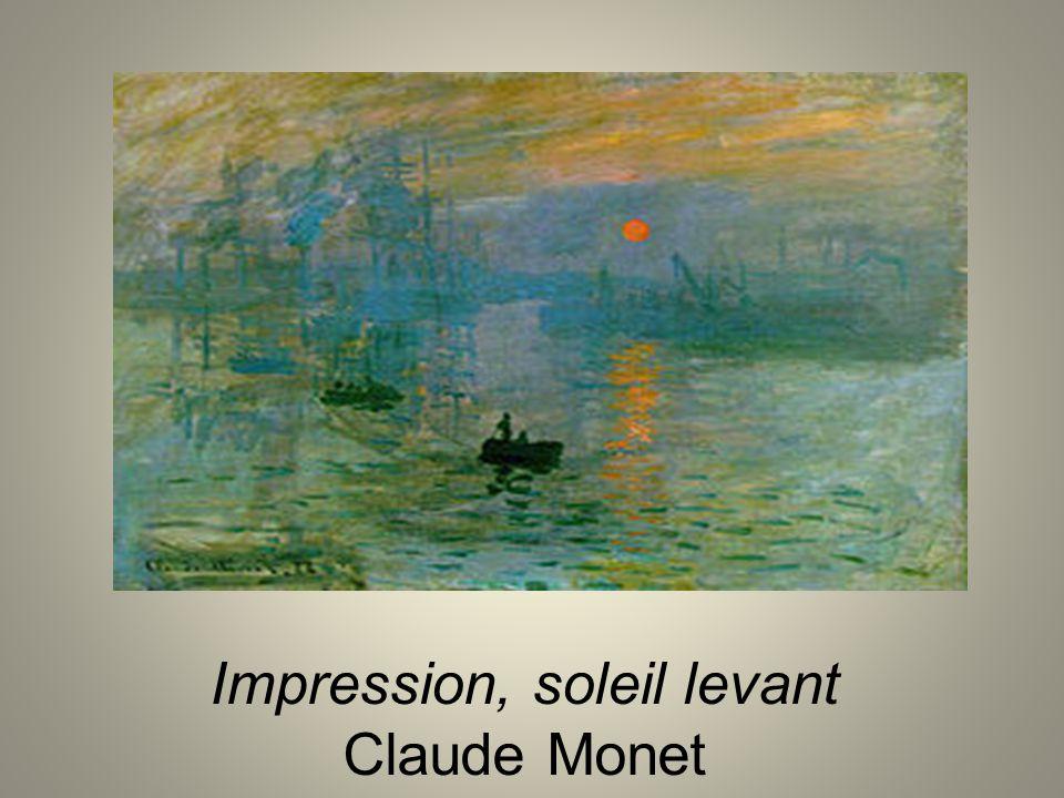 Impression, soleil levant Claude Monet