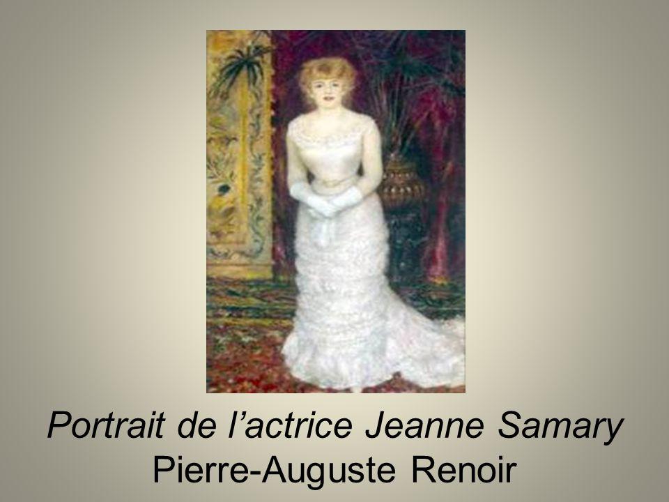 Portrait de l'actrice Jeanne Samary Pierre-Auguste Renoir