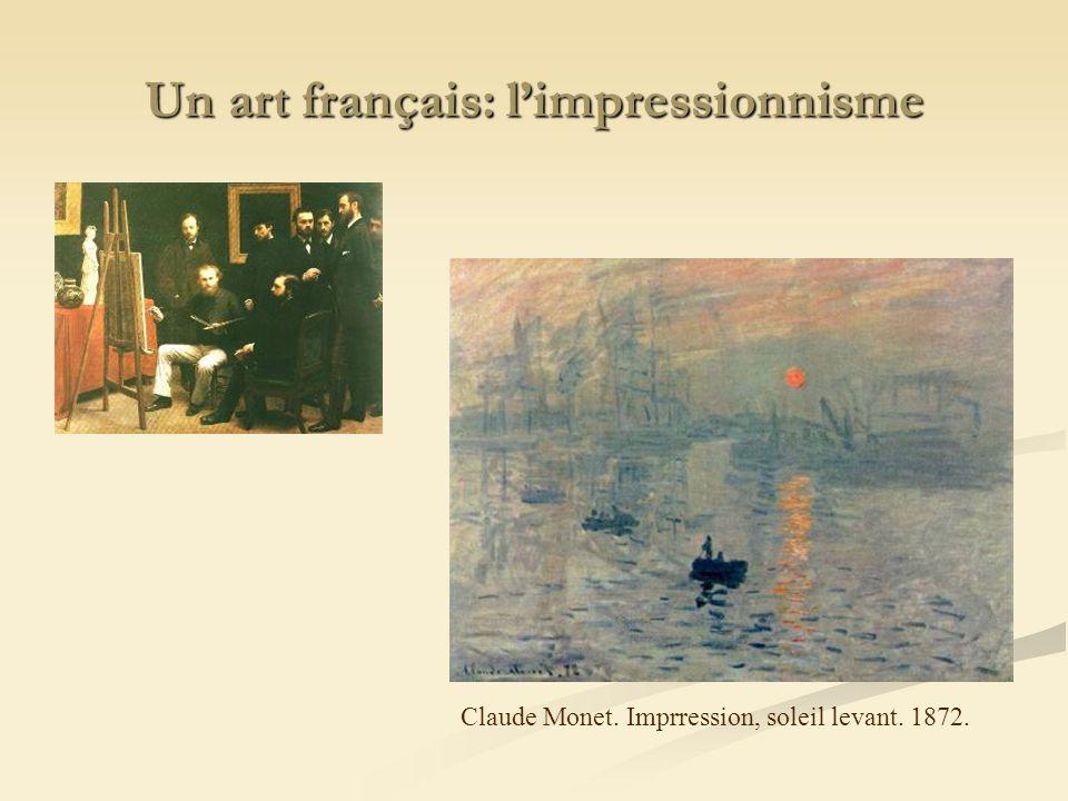 Un art français: l'impressionnisme