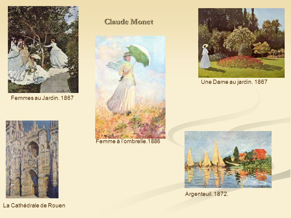 Claude Monet Une Dame au jardin. 1867 Femmes au Jardin. 1867
