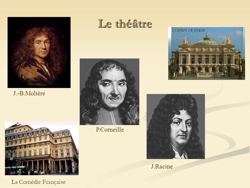 Le théâtre J.-B.Molière P.Corneille J.Racine La Comédie Française