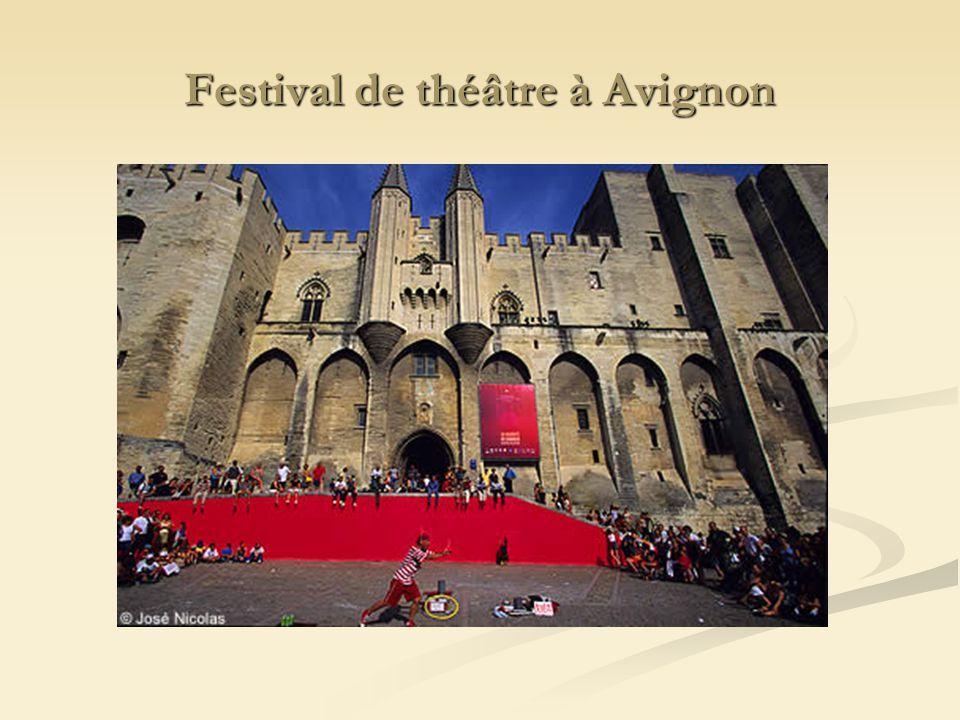Festival de théâtre à Avignon