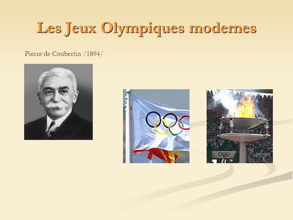 Les Jeux Olympiques modernes