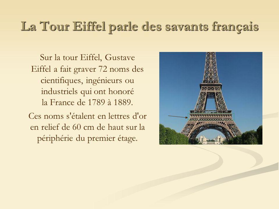 La Tour Eiffel parle des savants français