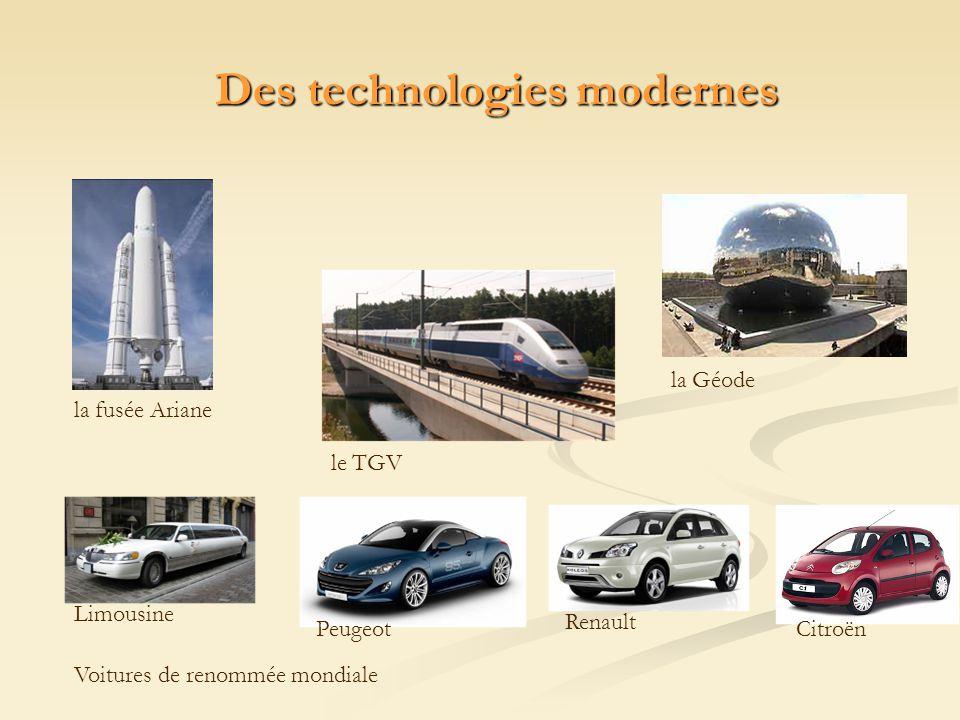 Des technologies modernes
