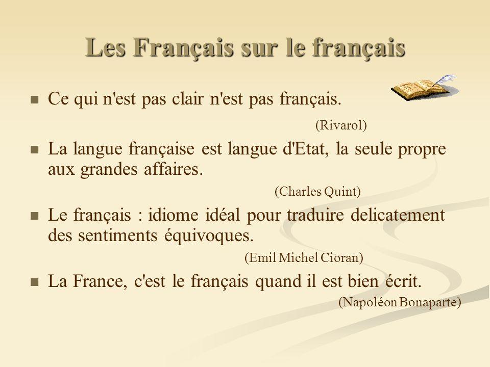 Les Français sur le français