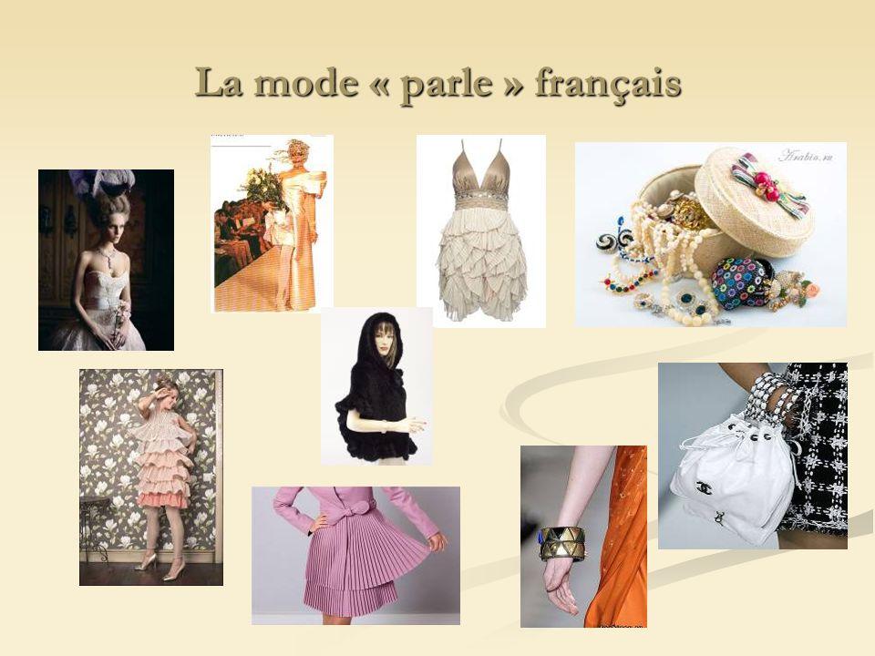 La mode « parle » français