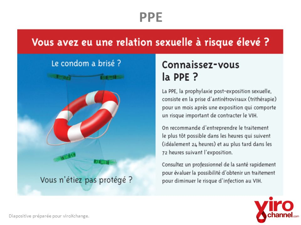 PPE Diapositive préparée pour viroXchange.