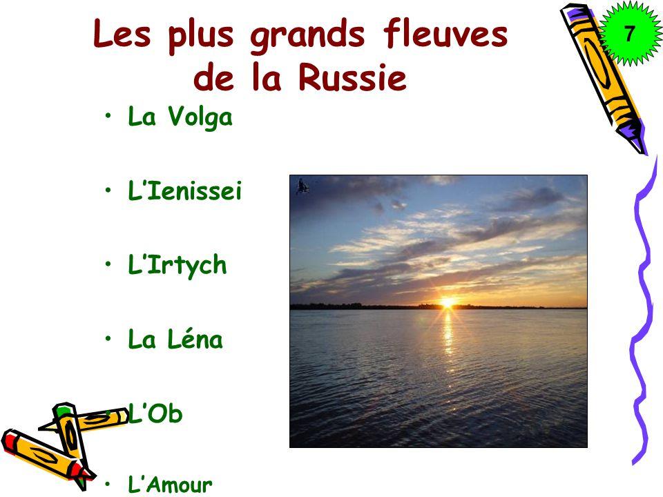 Les plus grands fleuves de la Russie