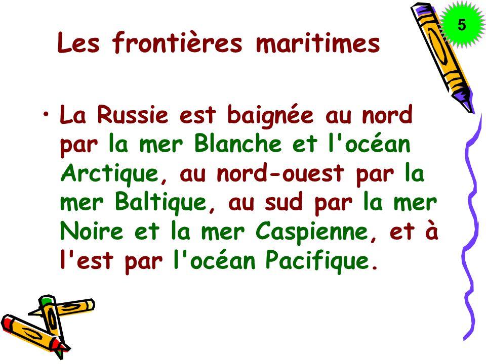 Les frontières maritimes