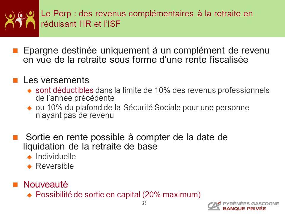 Le Perp : des revenus complémentaires à la retraite en réduisant l'IR et l'ISF