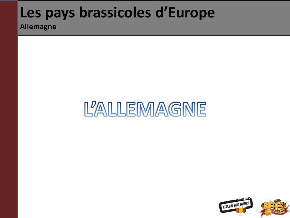 Les pays brassicoles d'Europe Allemagne