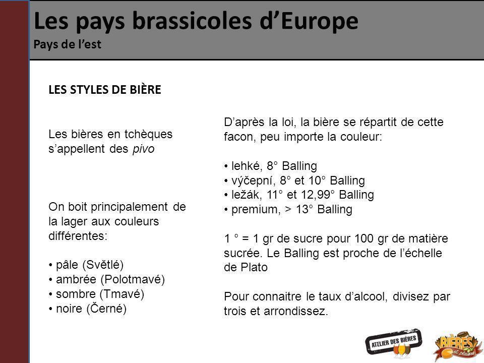 Les pays brassicoles d'Europe Pays de l'est