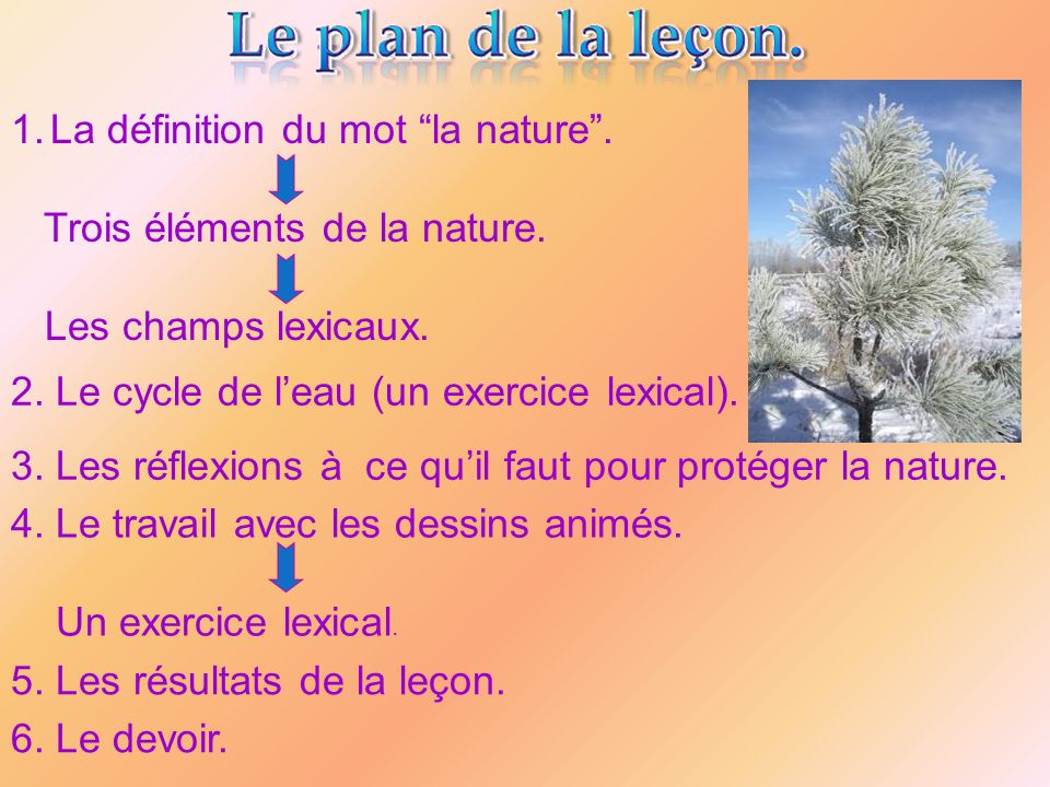 La définition du mot la nature .
