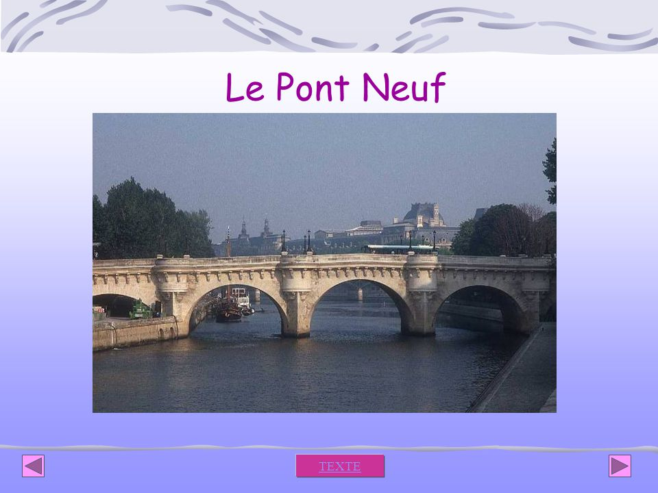 Le Pont Neuf TEXTE