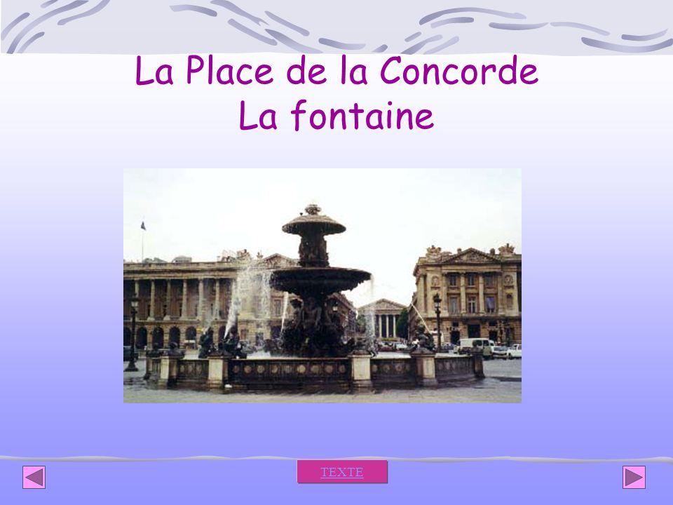 La Place de la Concorde La fontaine