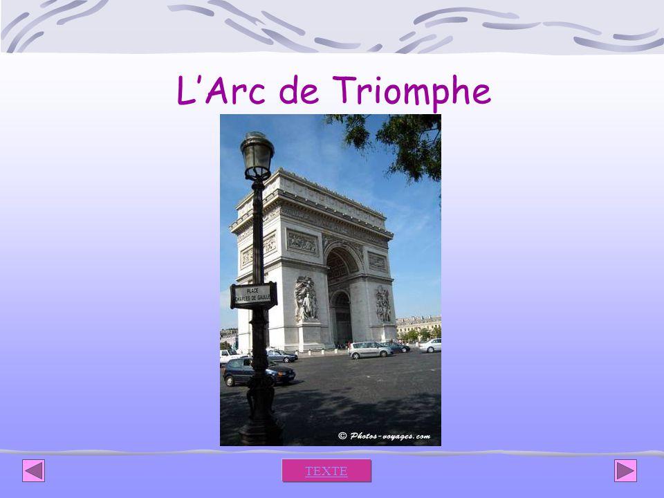 L'Arc de Triomphe TEXTE