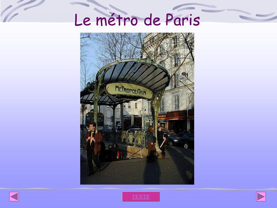 Le métro de Paris TEXTE