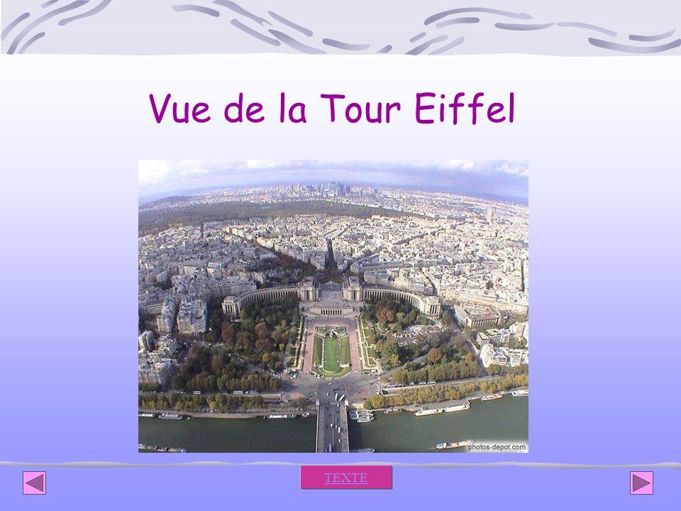 Vue de la Tour Eiffel TEXTE