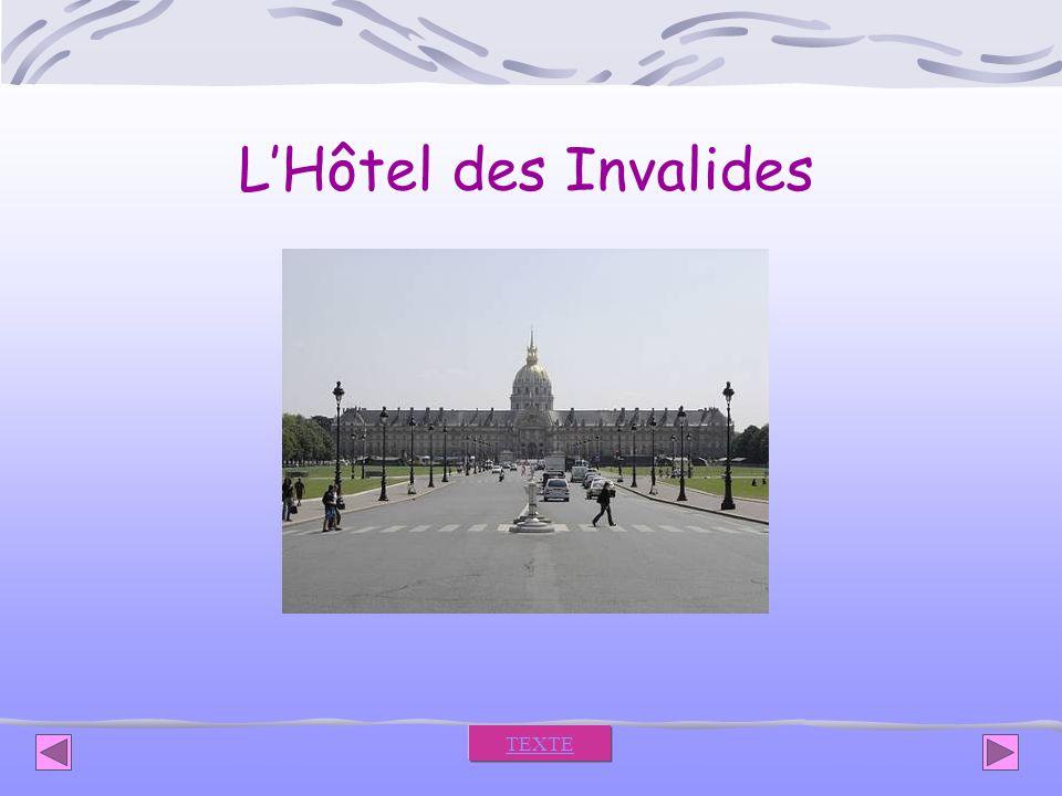 L'Hôtel des Invalides TEXTE