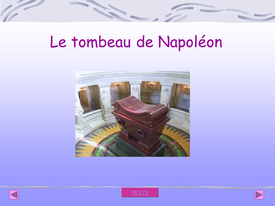 Le tombeau de Napoléon TEXTE