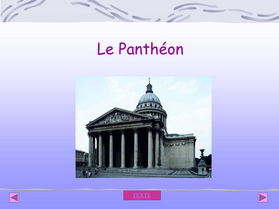Le Panthéon TEXTE