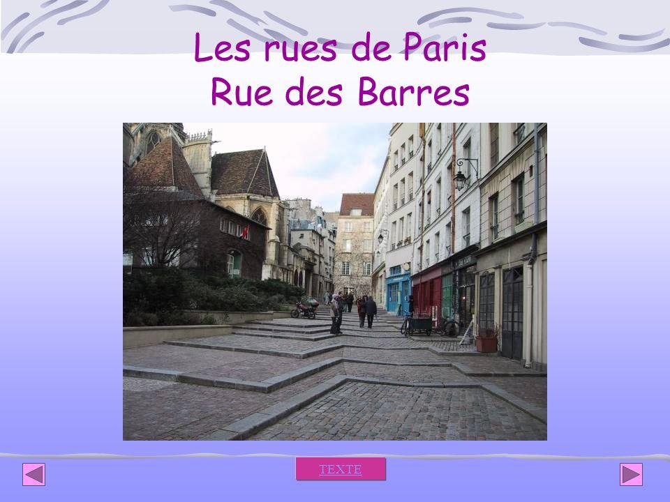 Les rues de Paris Rue des Barres