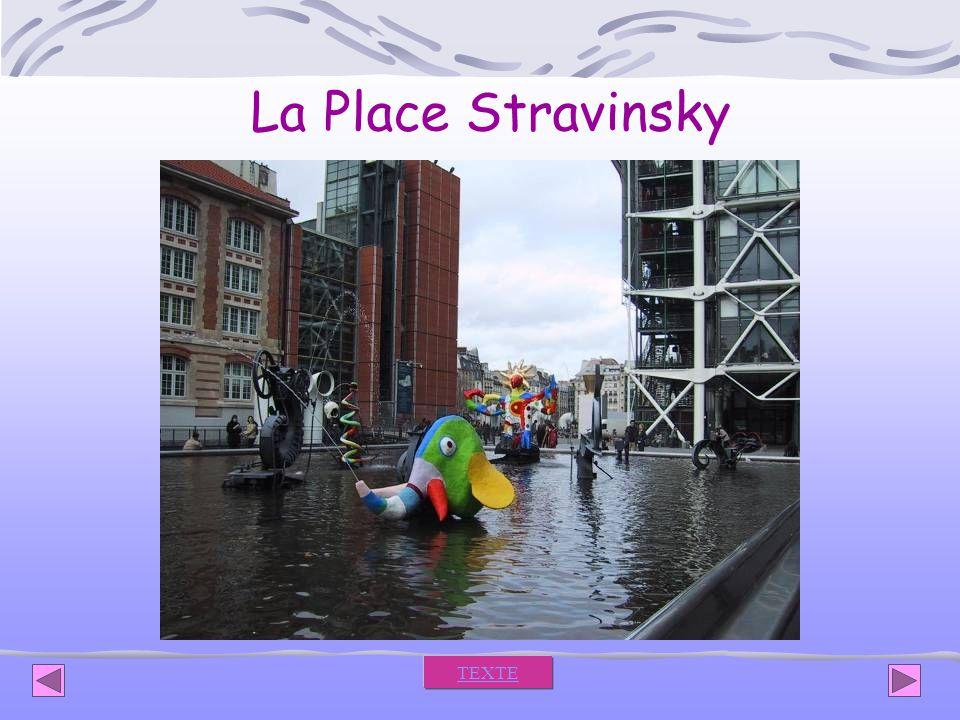 La Place Stravinsky TEXTE