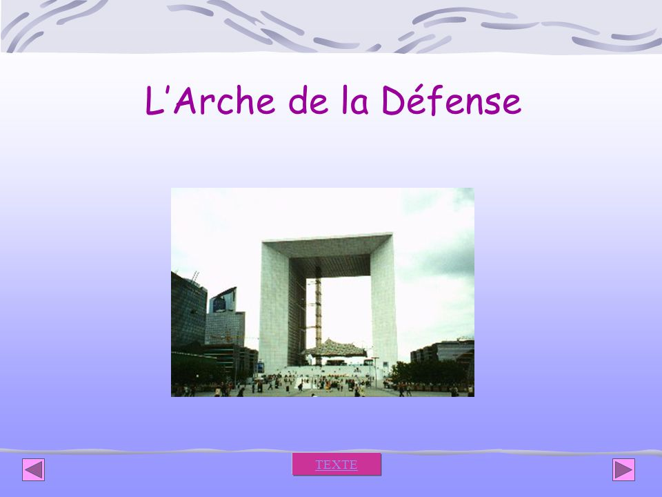 L'Arche de la Défense TEXTE