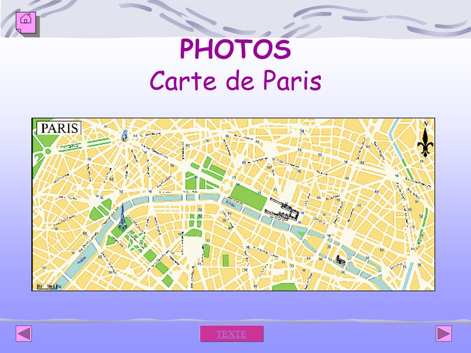 PHOTOS Carte de Paris TEXTE