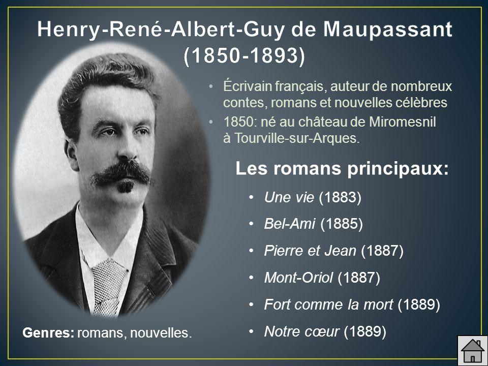 Henry-René-Albert-Guy de Maupassant (1850-1893)