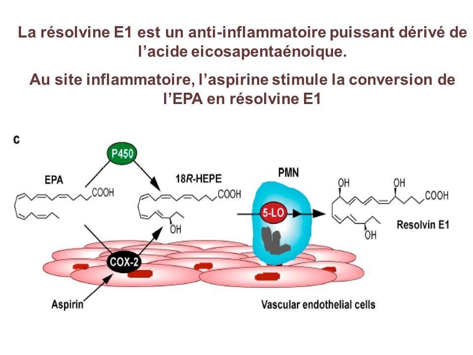 La résolvine E1 est un anti-inflammatoire puissant dérivé de l'acide eicosapentaénoique.