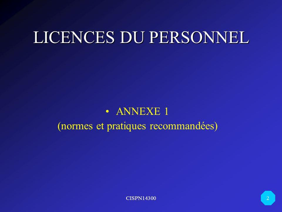 (normes et pratiques recommandées)