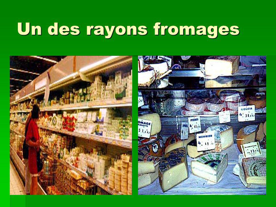 Un des rayons fromages