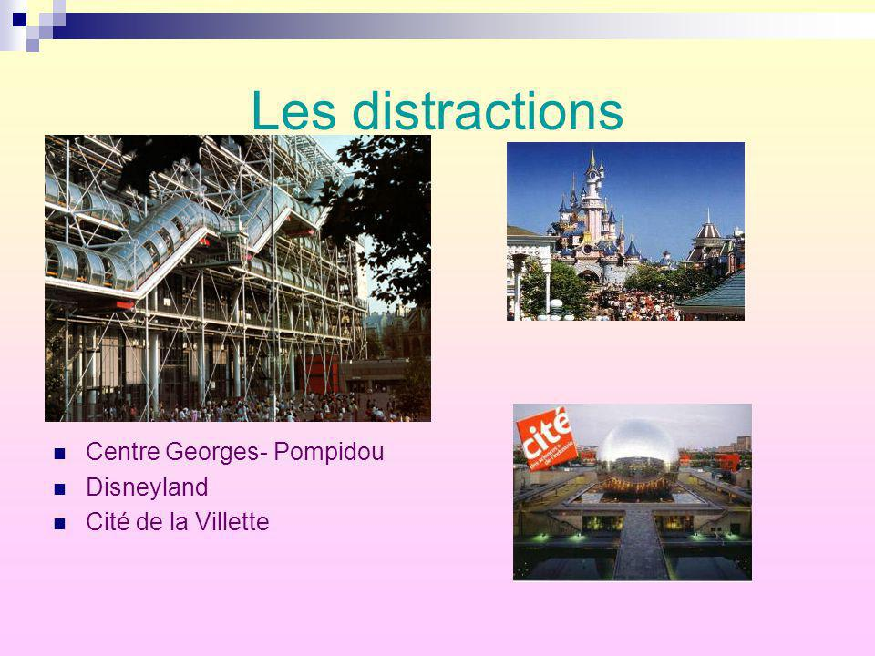 Les distractions Centre Georges- Pompidou Disneyland
