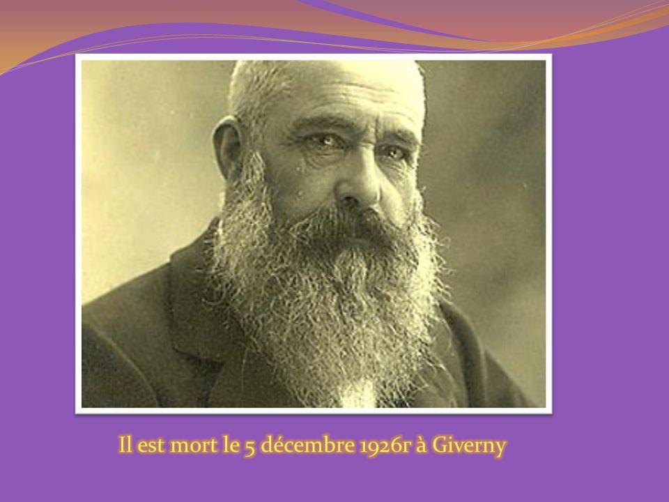 Il est mort le 5 décembre 1926г à Giverny