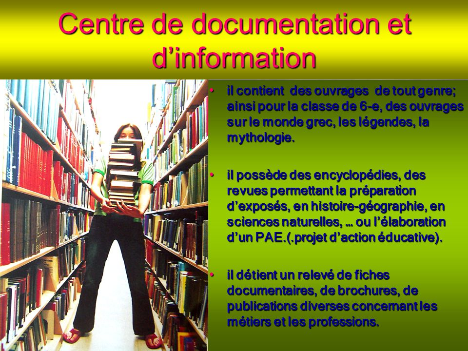 Centre de documentation et d'information