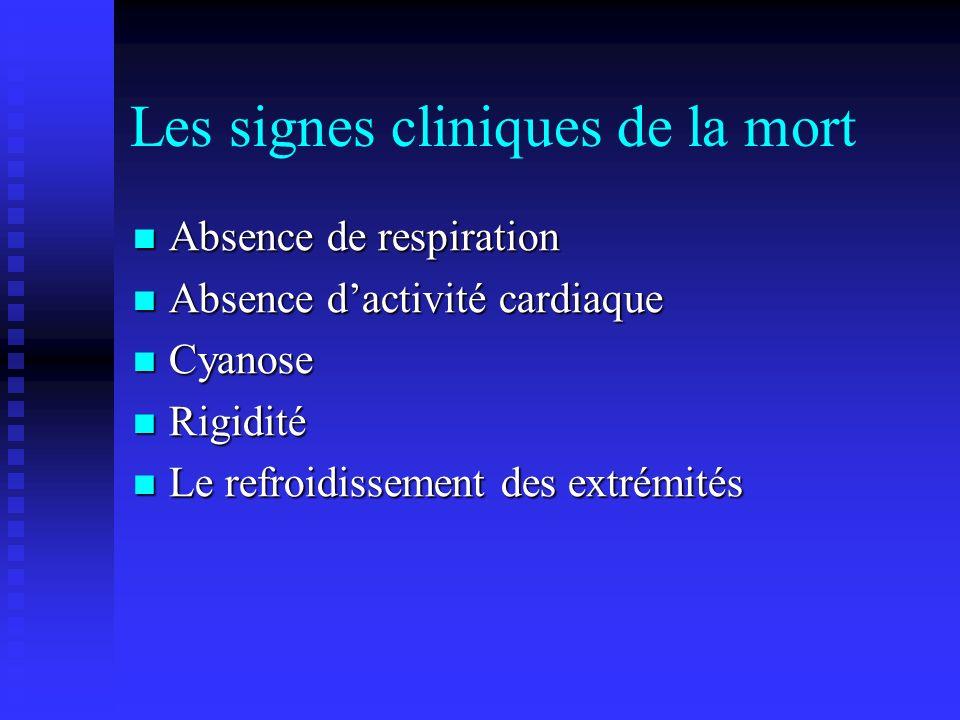 Les signes cliniques de la mort