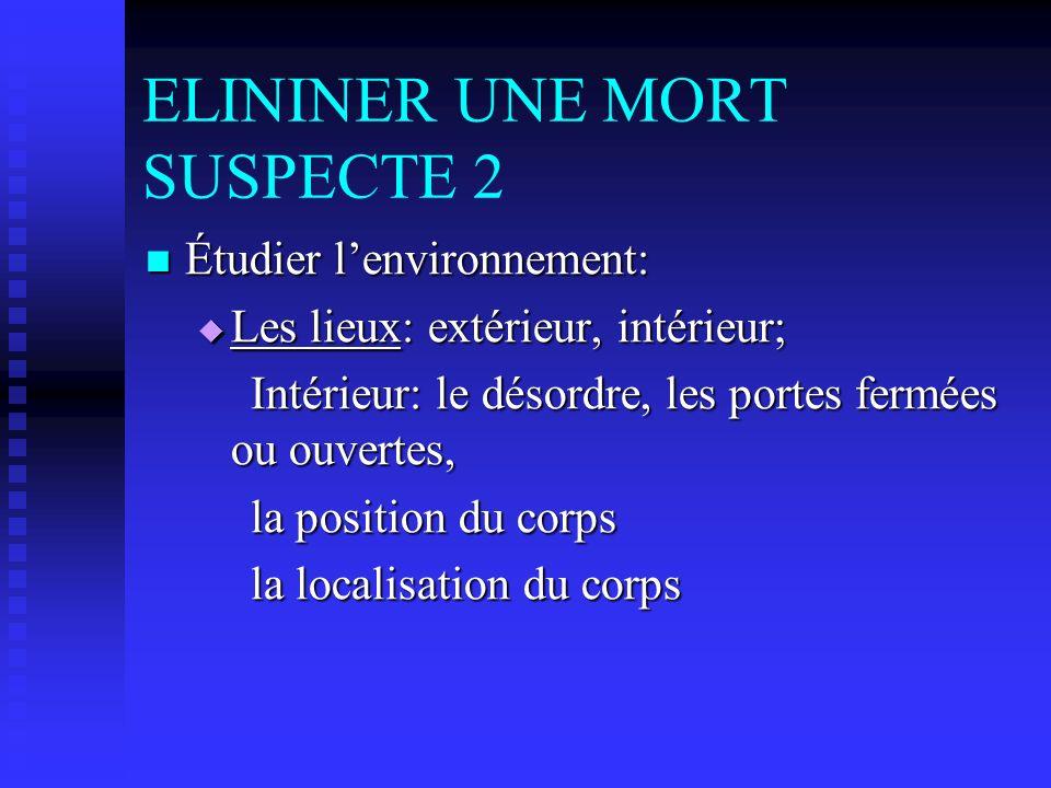 ELININER UNE MORT SUSPECTE 2