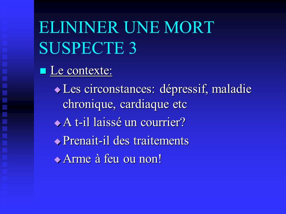 ELININER UNE MORT SUSPECTE 3