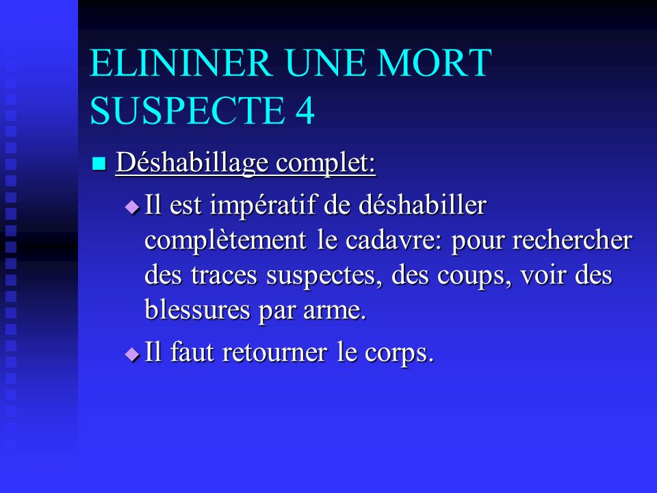 ELININER UNE MORT SUSPECTE 4