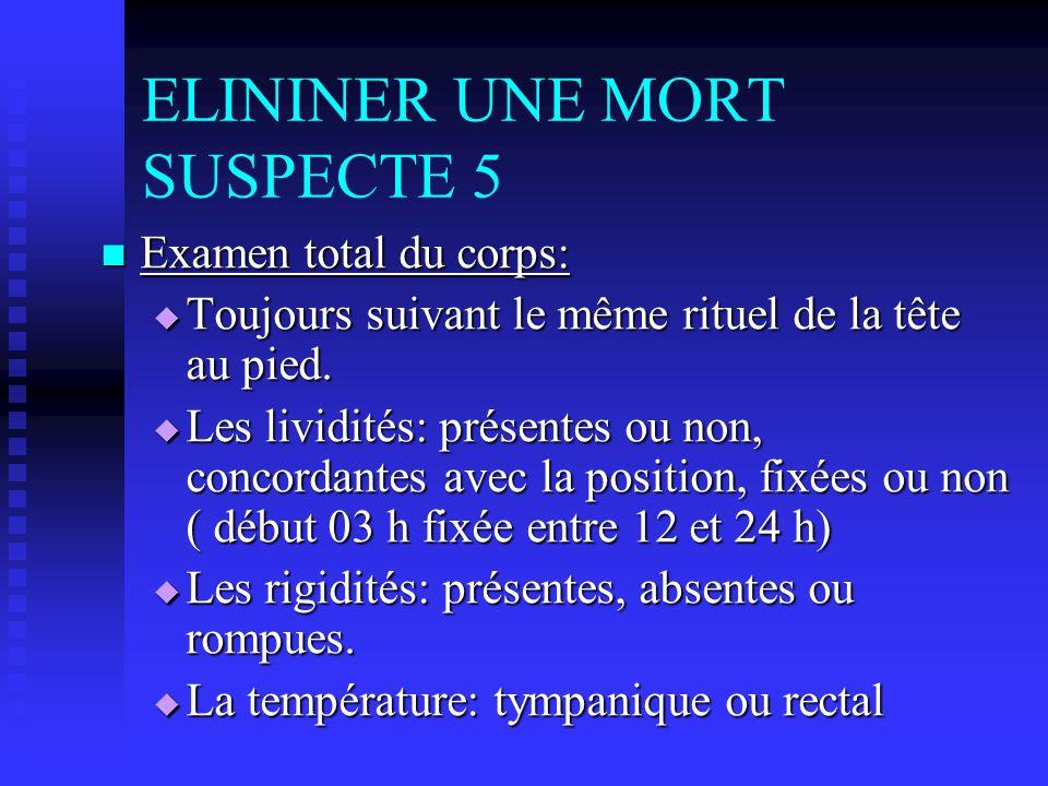 ELININER UNE MORT SUSPECTE 5