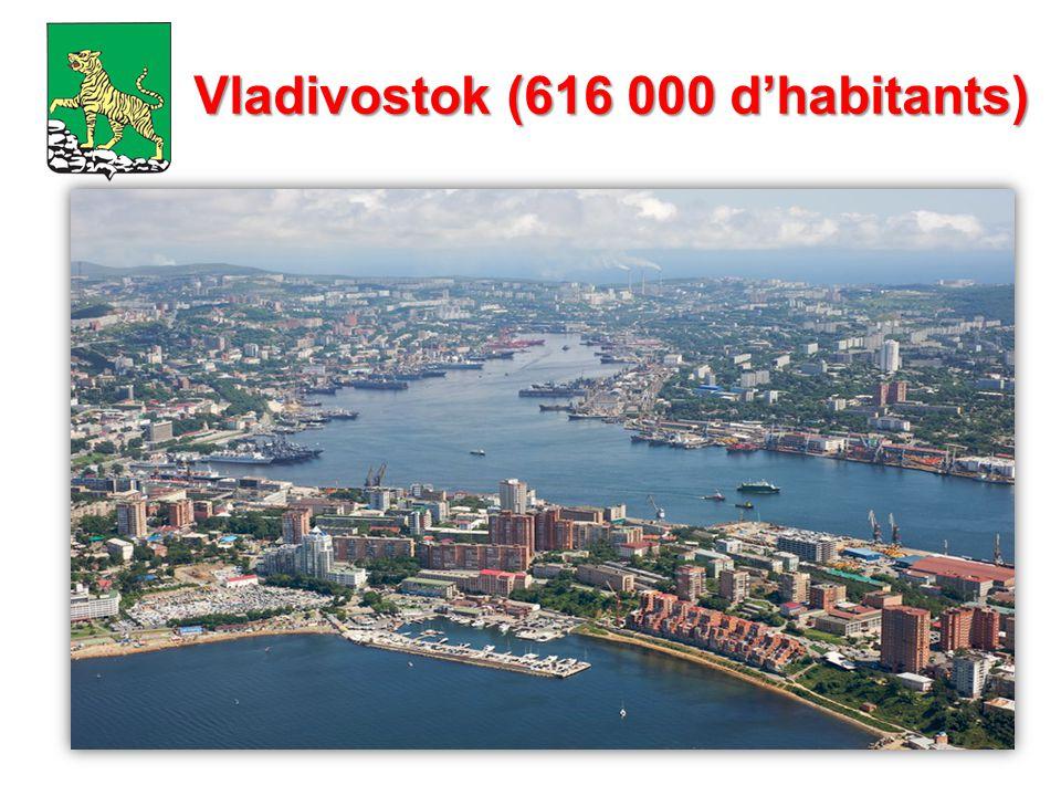 Vladivostok (616 000 d'habitants)