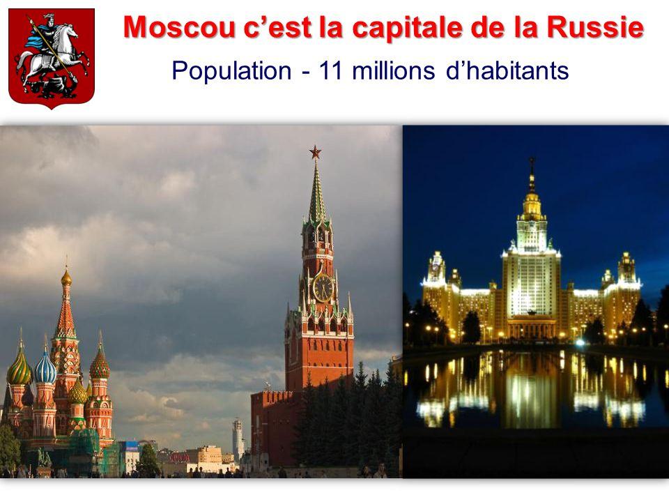 Moscou c'est la capitale de la Russie