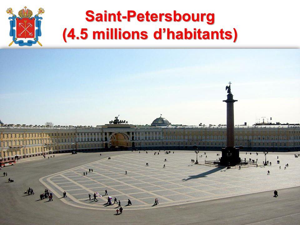 Saint-Pеtersbourg (4.5 millions d'habitants)