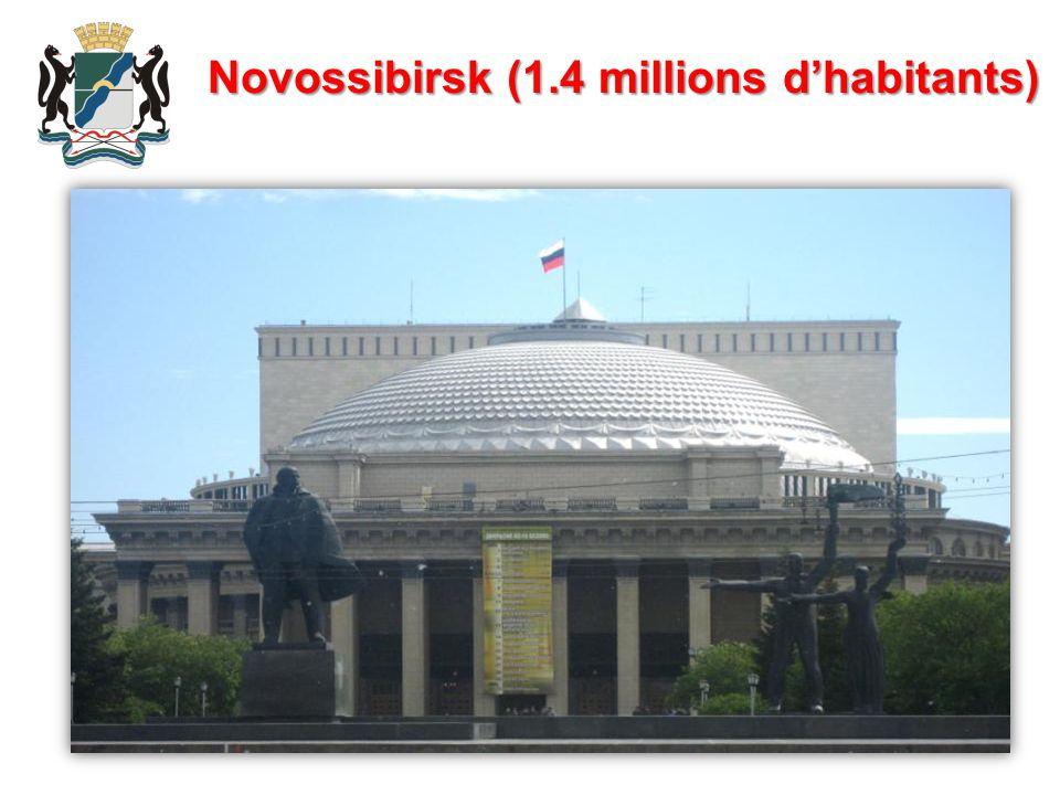 Novossibirsk (1.4 millions d'habitants)